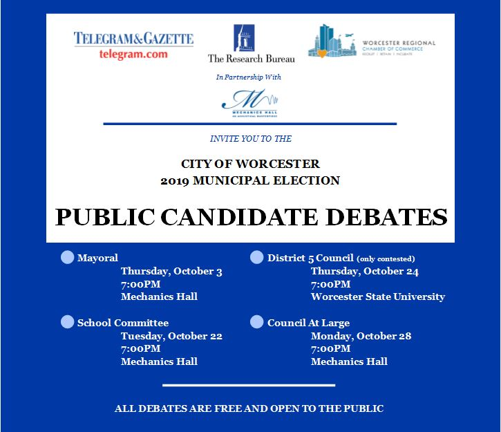 City of Worcester - 2019 Public Candidate Debates