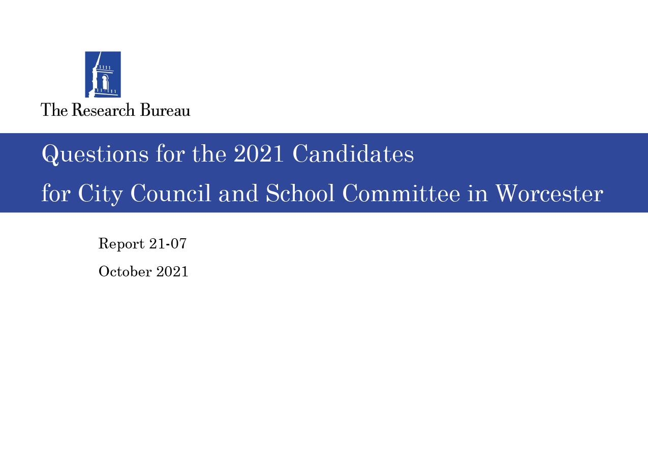 Questions for the Candidates Series